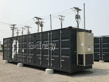 Large-scale battery storage container