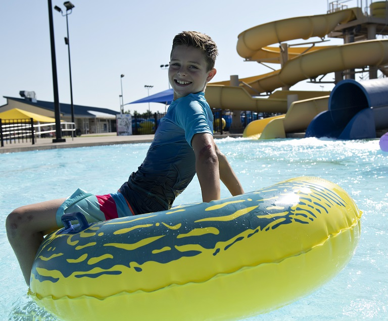 Boy In Pool - mobile banner
