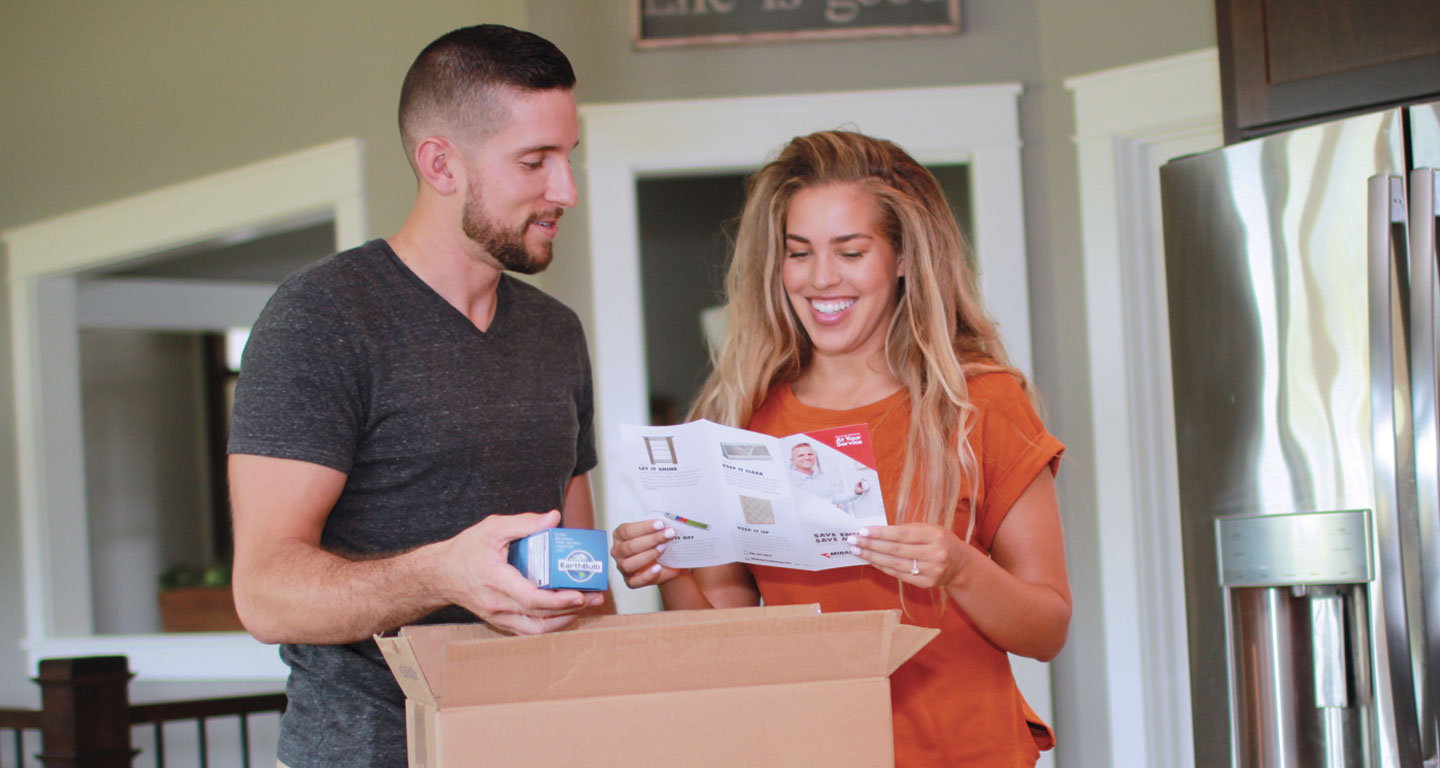 Couple opens energy efficiency kit
