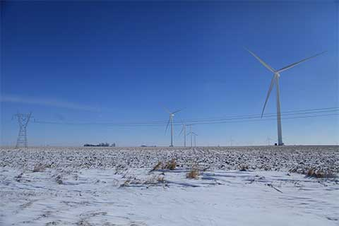 Winter Wind Turbines