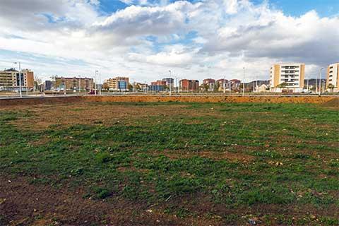 Open plot of land