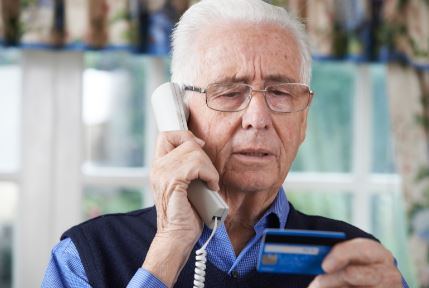 Older man on telephone