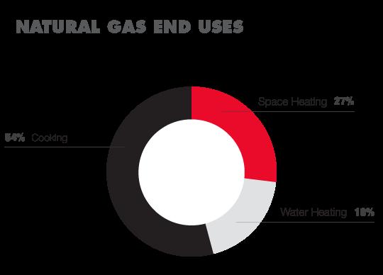 Restaurant Gas Usage Pie Chart