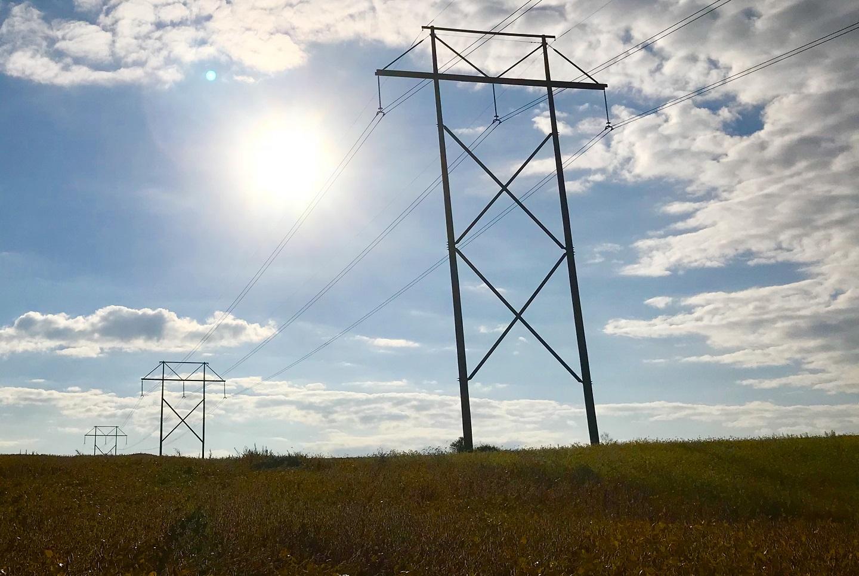 Transmission line, sunshine