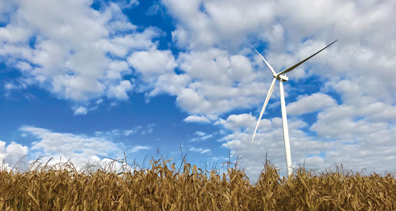 Wind turbine & blue sky